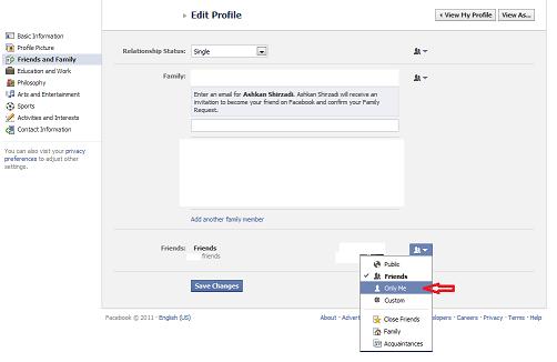 کار با فیسبوک